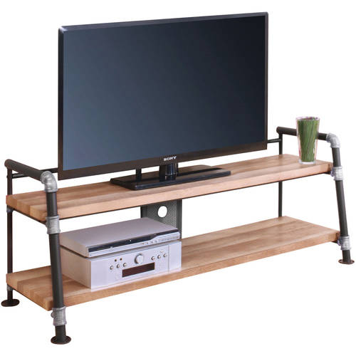 """Acme Caitlin TV Stand for TV up to 60"""", Sandy Black"""