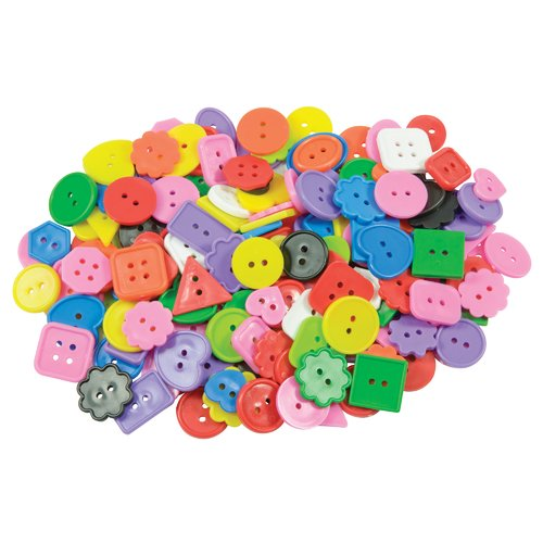 Roylco Inc Craft Buttons Asst 1 Lb Pk