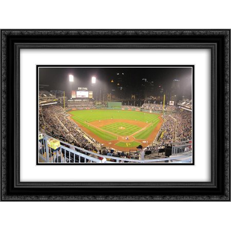 Pnc Park 2X Matted 24X18 Black Ornate Framed Art Print From The Stadium Series