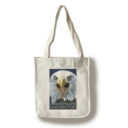 Camano Island, Washington - Eagle Up Close - Lantern Press Poster (100% Cotton Tote Bag - Reusable)