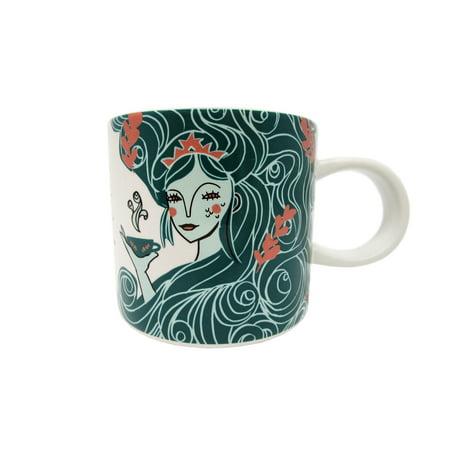 Starbucks Holiday 2018 Aqua Siren Mermaid Ceramic Mug 12 - Starbucks Halloween Mugs