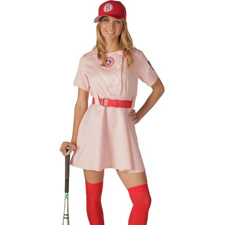 Rockford Peaches AAGPBL Baseball Womens Costume - Vintage Baseball Player Costume