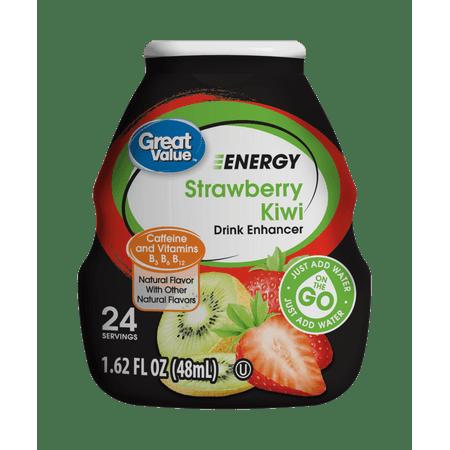 Great Value Energy Strawberry Kiwi Liquid Drink Enhancer  1 62 Fl Oz