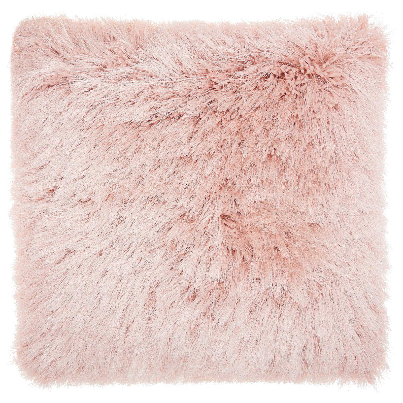 Nourison Yarn Shimmer Rose Shag Throw Pillow by Nourison