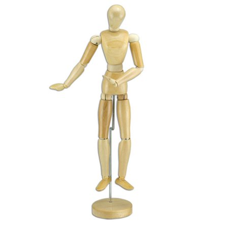 Creative Mark Wood Figure Manikins - Smooth, Sanded, Wood Figures For Teaching Perspective and Form - [Wax Finish | Female | 8