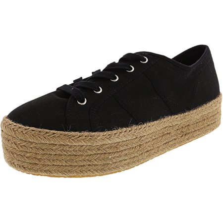 Steve Madden Women's Hampton Black Ankle-High Canvas Fashion Sneaker -