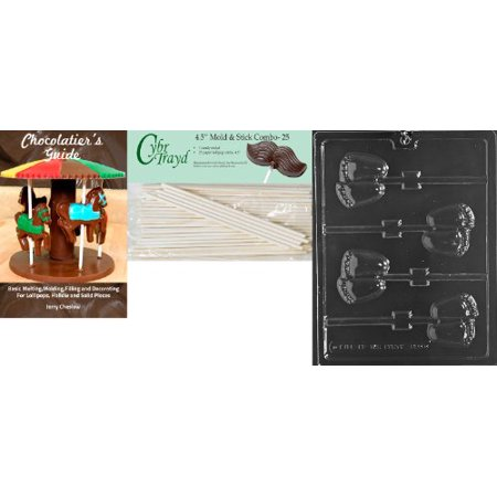 Baby Feet Lollipops - Cybrtrayd 'Chubby Baby Feet Lolly' Baby Chocolate Candy Mold with 25 4.5-Inch Lollipop Sticks and Chocolatier's Guide