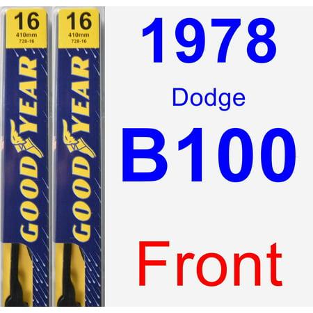 1978 Dodge B100 Wiper Blade Set/Kit (Front) (2 Blades) - Premium