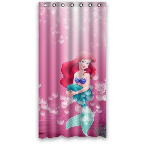 DEYOU The Little Mermaid Pink Bubble Nimo Shower Curtain Polyester Fabric Bathroom Shower Curtain Size 36x72 inch