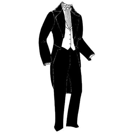Sewing Pattern: 1860\'s Men\'s Tailcoat, Waistcoat & Trousers Pattern ...