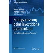 Erfolgsmessung beim Investitionsgütereinkauf - eBook