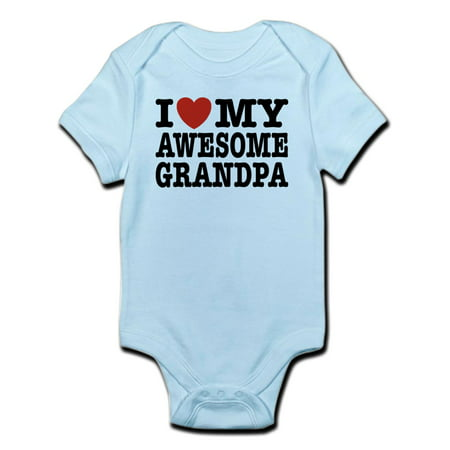 I Love My Awesome Grandpa Infant Bodysuit - Baby Light - Baby Grandpa Halloween