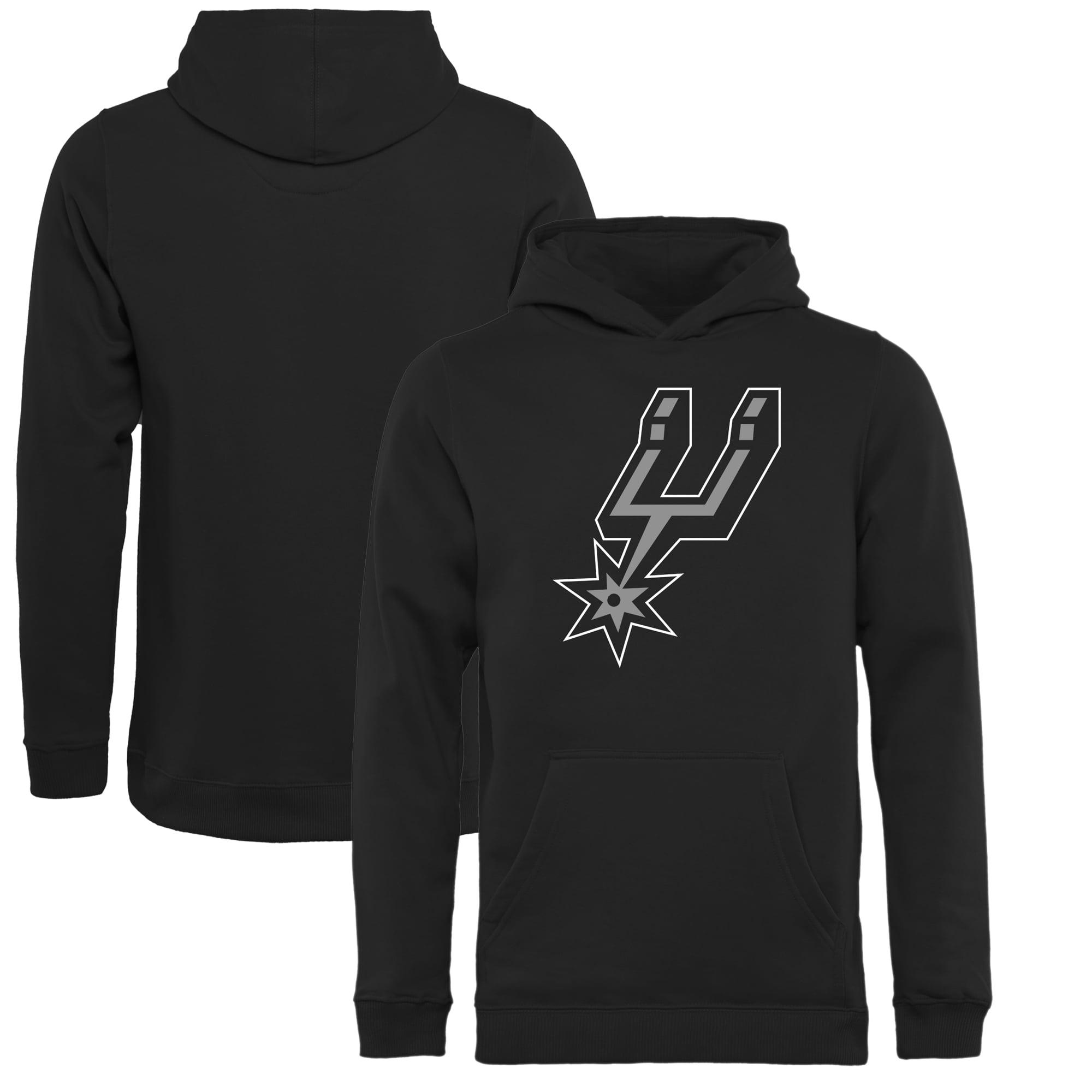 San Antonio Spurs Fanatics Branded Youth Primary Logo Pullover Hoodie - Black