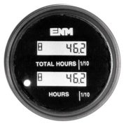 ENM PT1210F0 DC Hour Meter,LCD,Round,Resettable