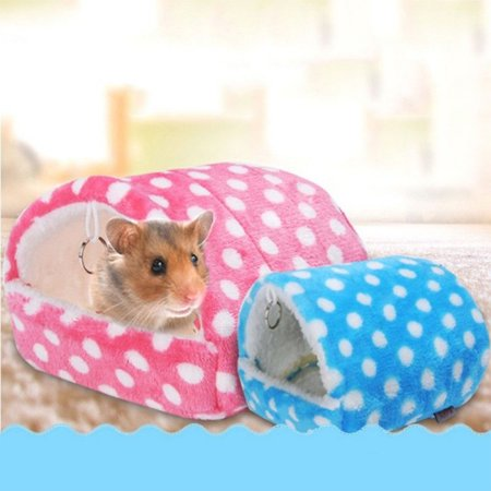 Comfortable Pet Hamster Warm Bed Hammock Cushion Mat for Pet Rabbit Guinea Pig Rat Squirrel Mice Pink L: Bottom length: Approx. - Rabbits Feet For Sale