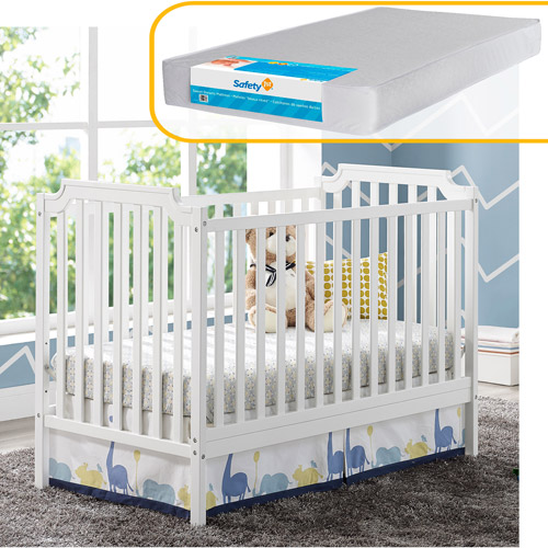 Baby Relax Willow 2 in 1 Convertible Crib and Mattress Bundle