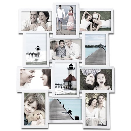Adeco 12-photo Collage White Wood Picture Frame - Walmart.com