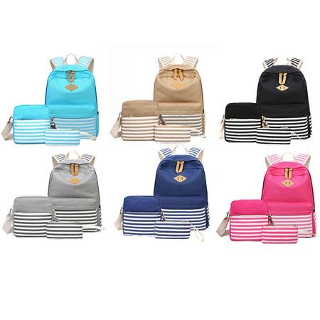 e20fc44064 Viugreum - Girls Boys School Backpack Set 3 Pieces Patterned Bookbag Laptop School  Backpack - Walmart.com