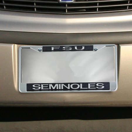 University Of Florida License Plate Frames - Florida State Seminoles (FSU) Glitter License Plate Frame - Black - No Size