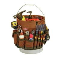 Bucket Boss 5-Gallon Bucketeer 30 Pocket Bucket Tool Organizer, Brown, 10030