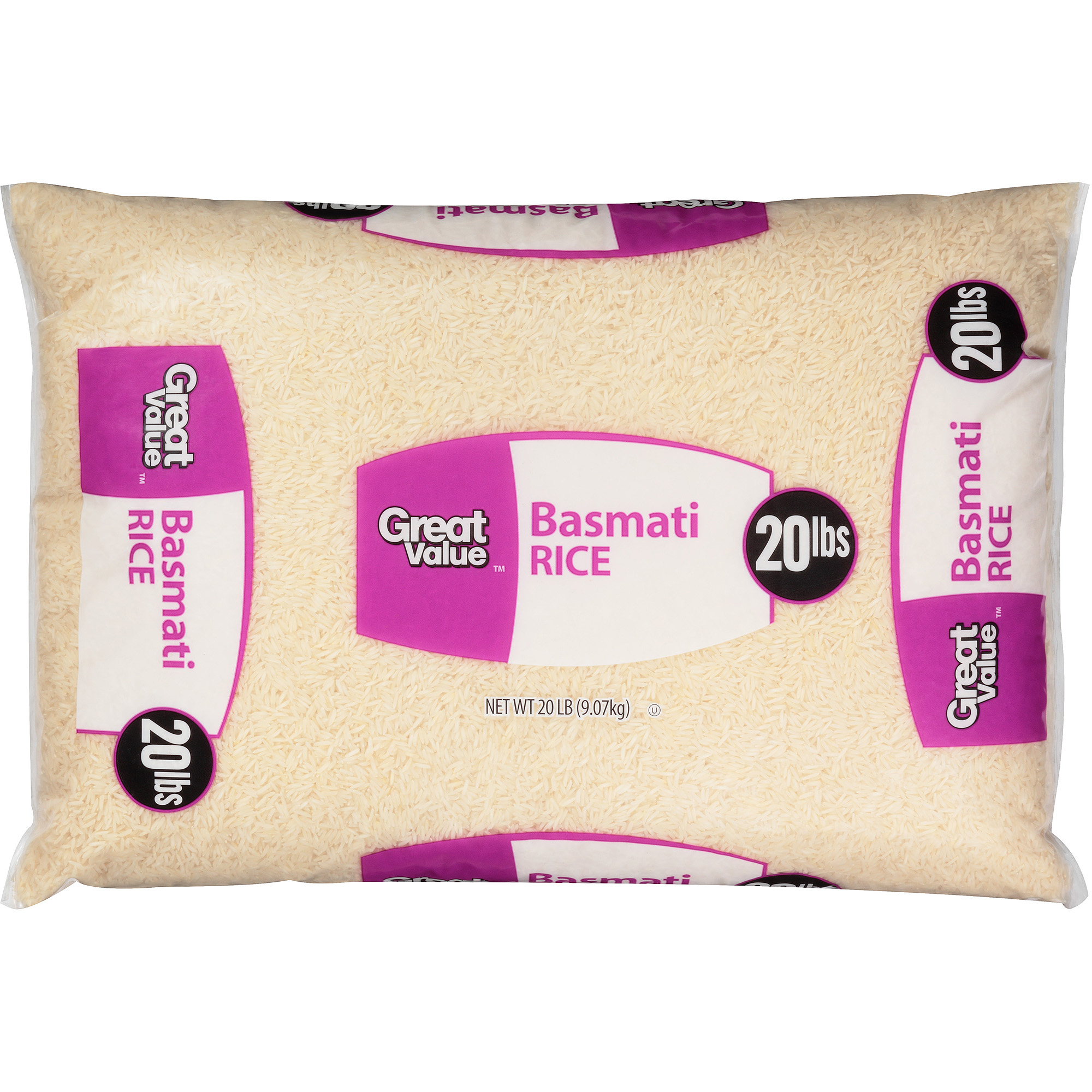 Great Value Basmati Rice, 20 lbs