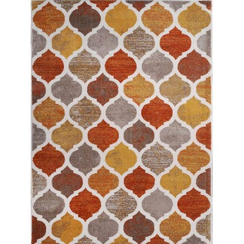 Home Dynamix Tremont Collection Hd5012 731 Beige Orange Modern Moroccan Area Rug Contemporary