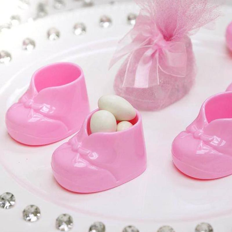 BalsaCircle 12 pcs Disposable Plastic Booties Baby Shower Favors for Wedding Reception Party Buffet Catering Tableware