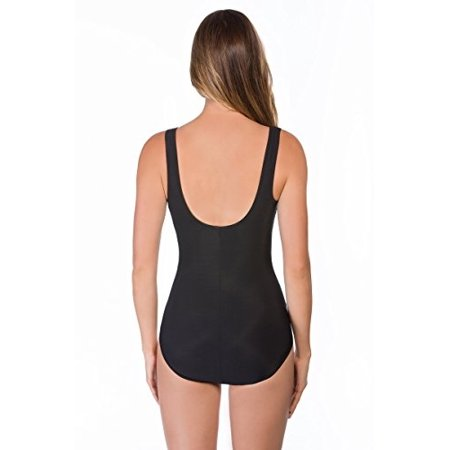 Reebok 780521 Fire and Water Square Neck One Piece Swimsuit