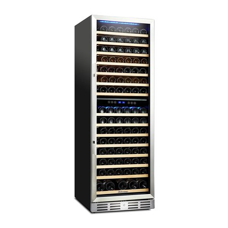 Kalamera 157 Bottle Compressor Wine Cooler Refrigerator Dual Zone with Touch Control ()