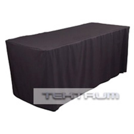 NEW 6' FT LONG FITTED TABLE DJ JACKET COVER FOR TRADE SHOW - BLACK COLOR - Fitted Table Covers