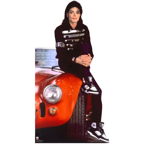 Advanced Graphics Michael Jackson Red Car Cardboard Stand-Up