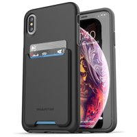 Encased iPhone XS Max Wallet Case, Ultra Slim Credit Card and ID Holder (Phantom Series) Thin Protective Grip Cover for