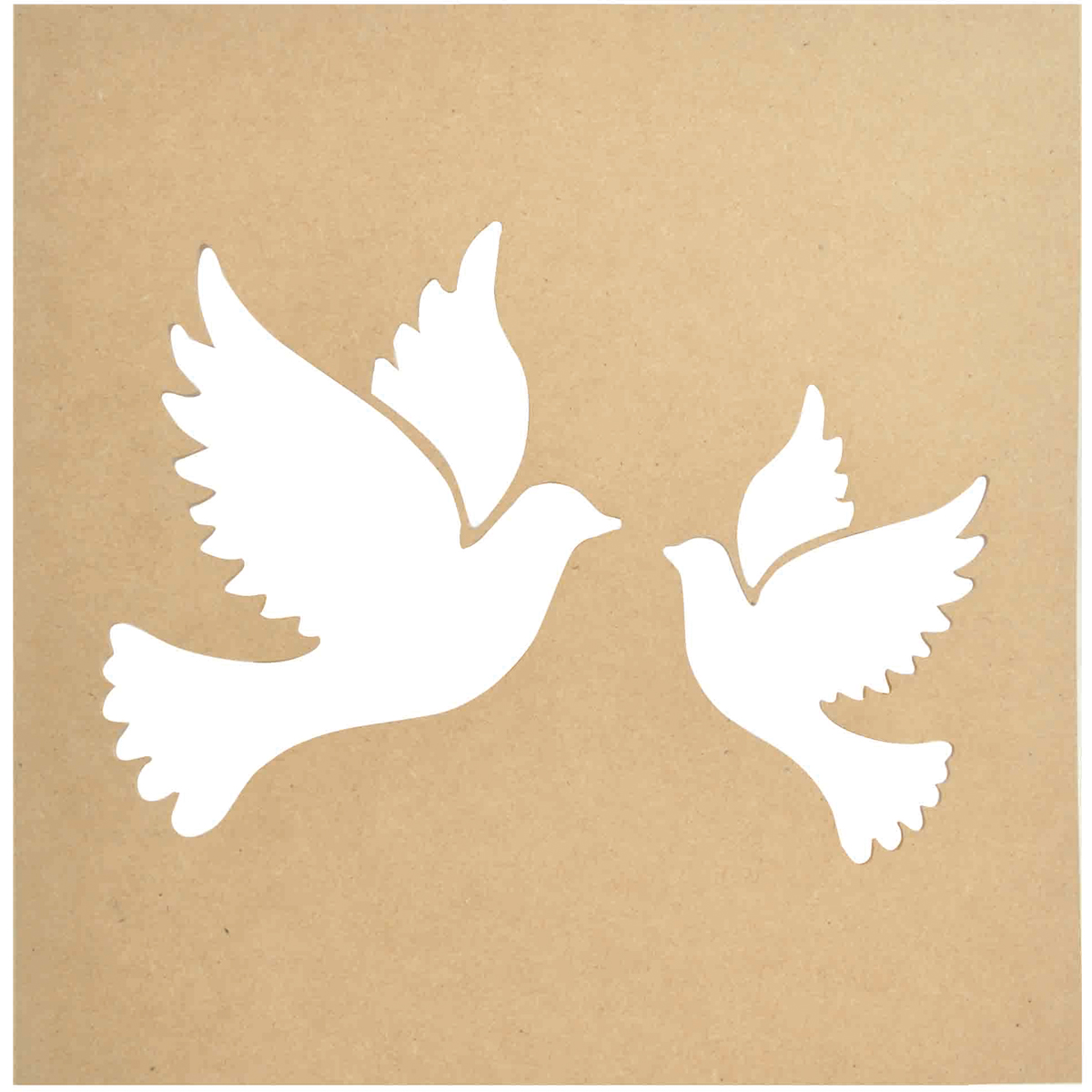 Beyond The Page MDF Doves Silhouette Wall Art Frame-12\
