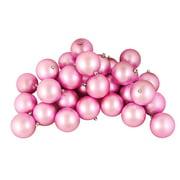 """60ct Matte Bubblegum Pink Shatterproof Christmas Ball Ornaments 2.5"""" (60mm)"""