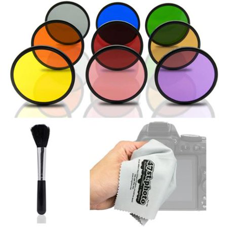 Opteka HD MC Solid Color Filter Kit for Olympus OM-D E-M5, E-M1, E-M10, PEN E-PL7, E-P5, PL5, PM2, P1, P2, PL1, PL1s, PL2 Micro Four Thirds Digital Cameras (Fits 37mm and 58mm Threaded Lenses)