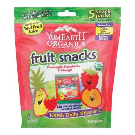 Yumearth Organics Organic - Raspberry - Pineapple - Mango - pack of 12 - 3.1 Oz.