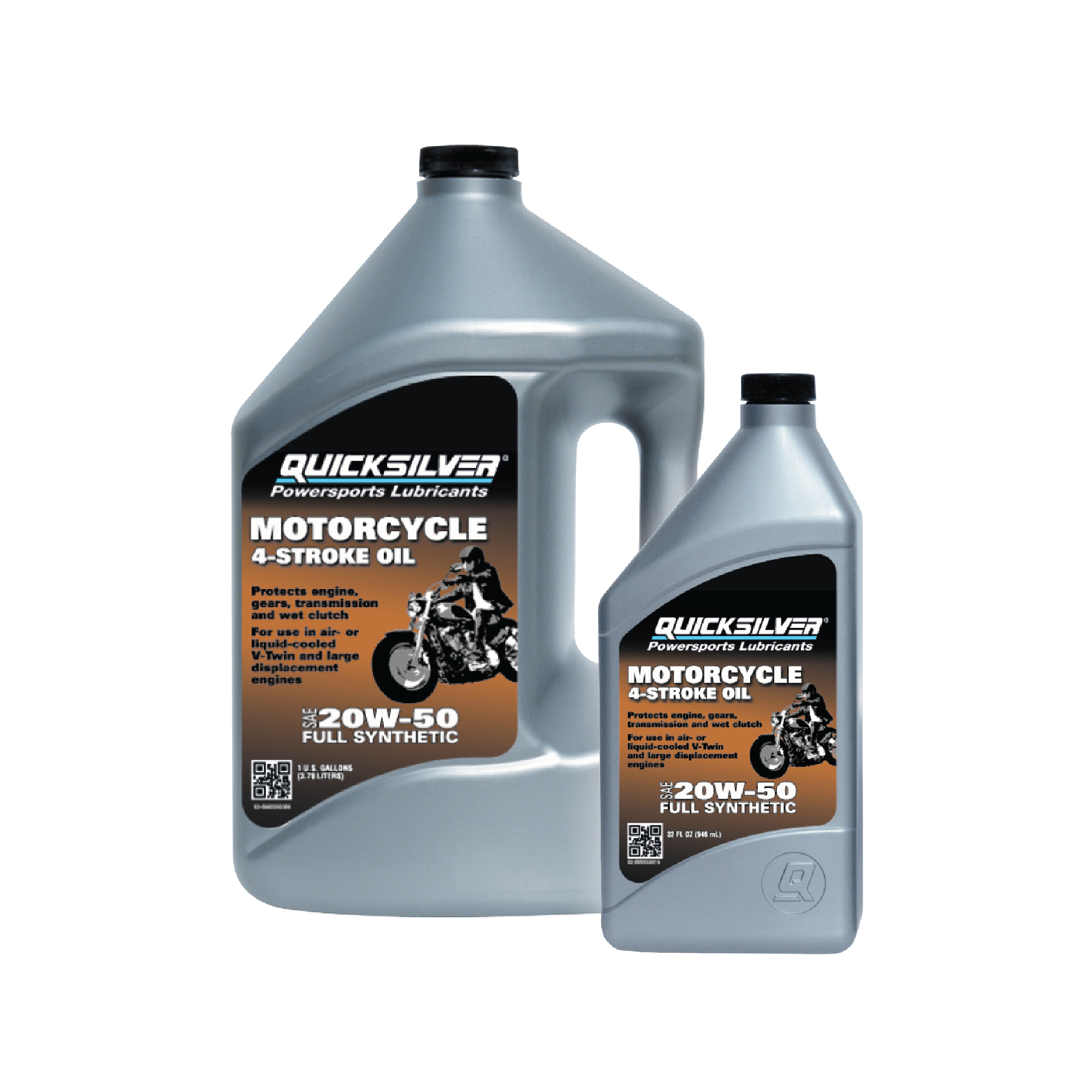 Quicksilver 20W-50 Motorcycle Oil, 1 qt