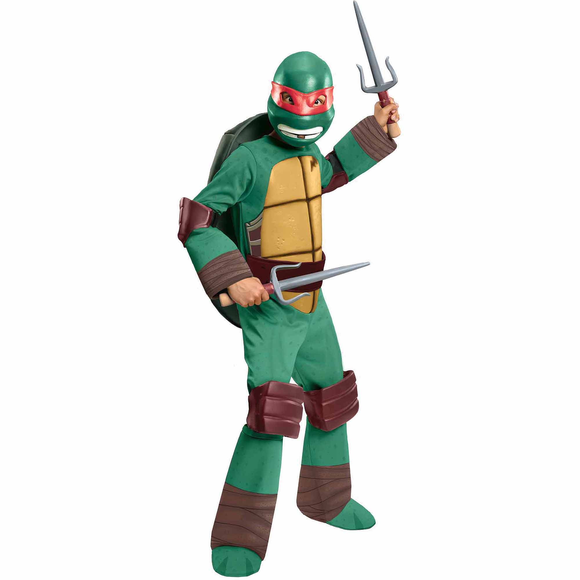 7f30971fe68 Teenage Mutant Ninja Turtles Raphael Deluxe Child Halloween Costume -  Walmart.com