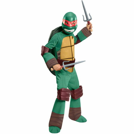 Teenage Mutant Ninja Turtles Raphael Deluxe Child Halloween Costume (Best Ninja Costume Ever)