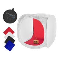Square Perfect 24 Inch Classic Photography Light Tent - Softbox w/ 4 Backgrounds
