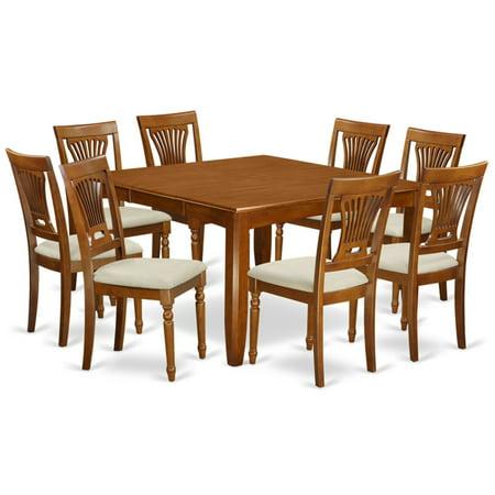 East West Furniture Parfait 9 Piece Empire Dining Table Set