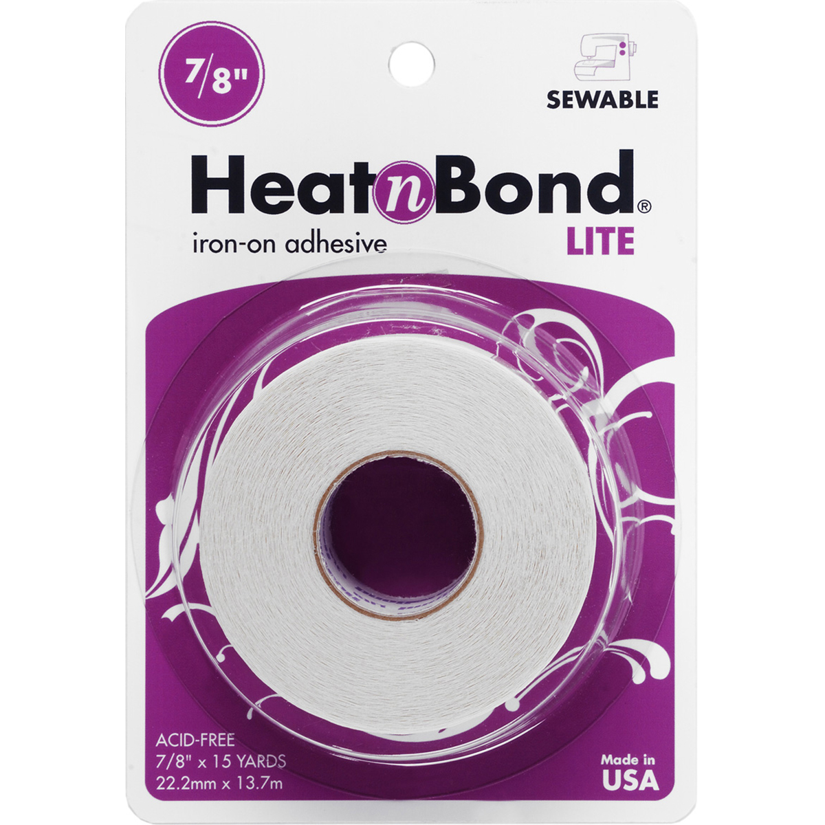 "Heat'n Bond Lite Iron-On Adhesive-.875""X15yd"