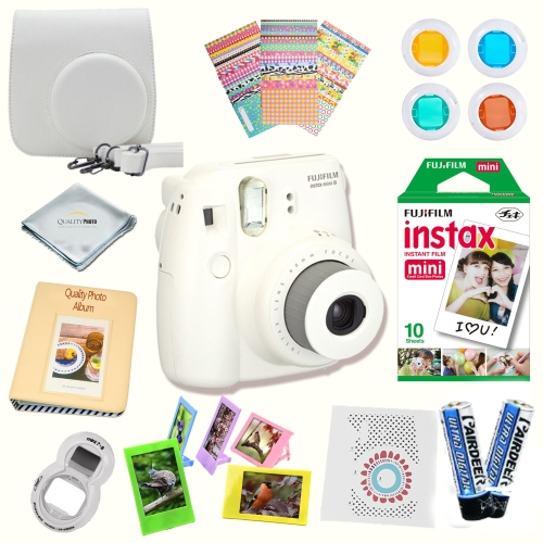 Fujifilm Instax Mini 8 Instant camera With Fujifilm Instax mini 8 instant films (10 pack) + A MASSIVE DELUXE BUNDLE (Over 15 Pcs)