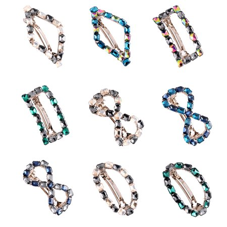 Colour Rhinestone Spring Hairpin Women Hollow Bowknot Hair Clip Girls Alloy Headwear Barrette - image 7 de 9