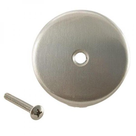 WestBrass D328 Satin Nickel One-Hole Overflow Faceplate with Screw