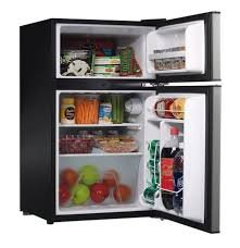 Free Cleaning Kitchen Cloth 2 Door Dorm Size Refrigerator Black