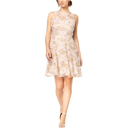 Taylor Womens Floral Embroidered Cocktail - Corey Taylor Jumpsuit