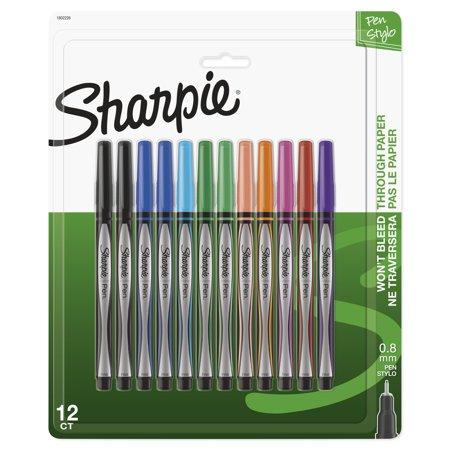 Manga Art Pens (Sharpie Pens, Fine Point (0.8mm), Assorted Colors, 12)