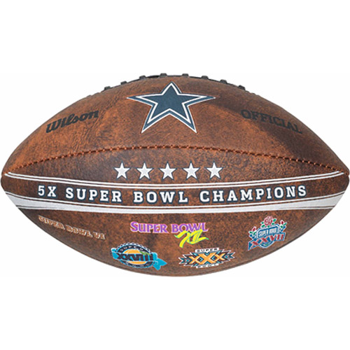 "NFL Commemorative Championship 9"" Football, Dallas Cowboys"