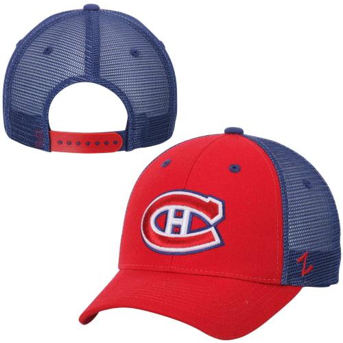 Montreal Canadiens Zephyr Basic Trucker Snapback Adjustable Hat - Red - OSFA